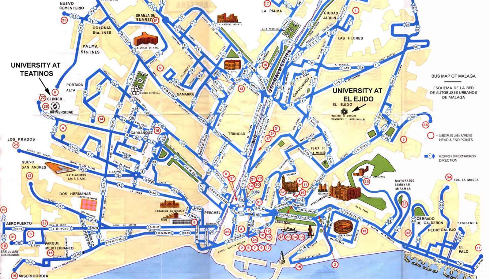 Mapa Turístico Málaga