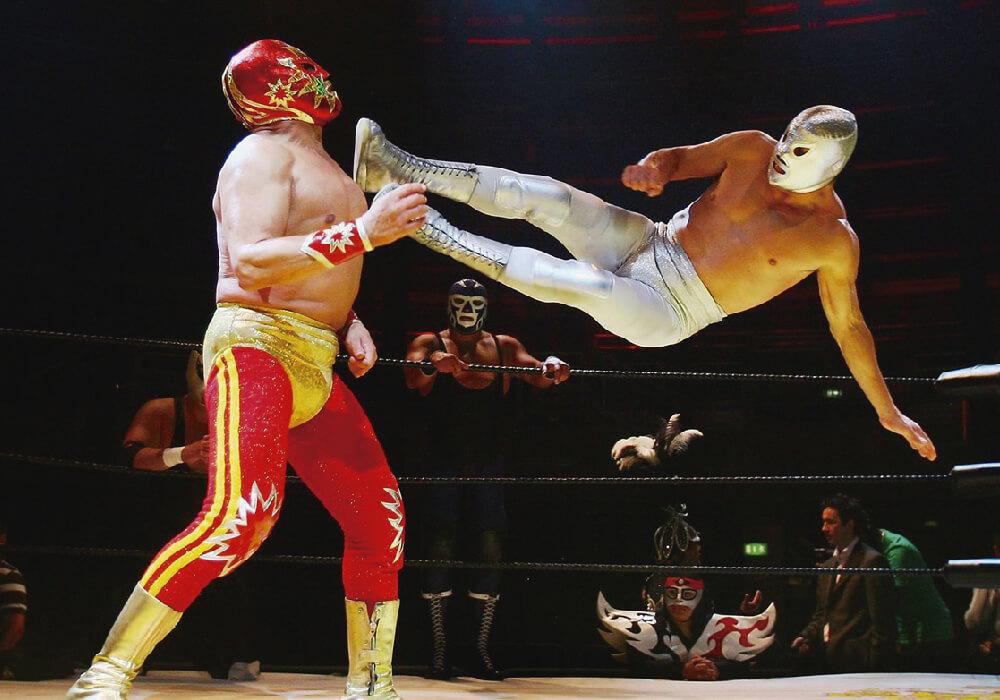 Luchadores en el Ring.