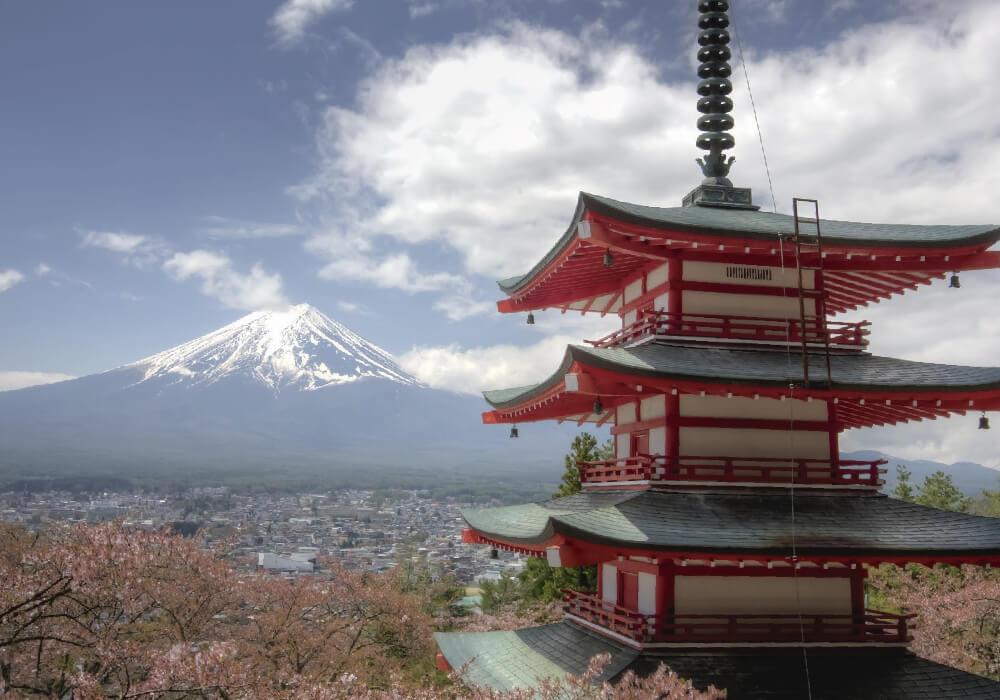 Es el monte más alto de todo Japón.