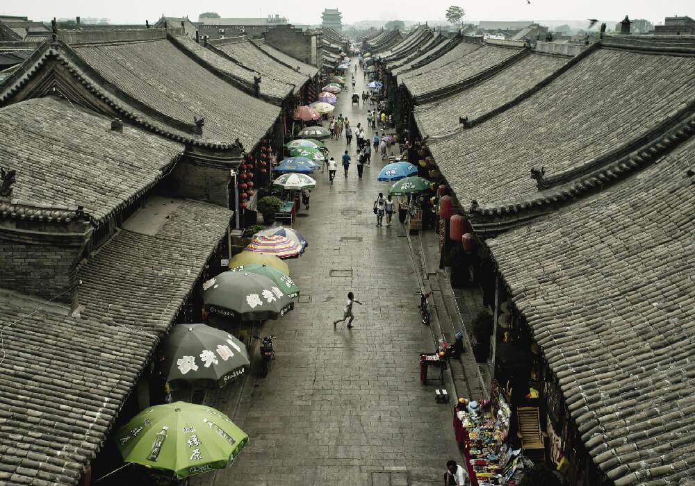 na de las ciudades que mantienen la poca arquitectura original de las épocas Ming y Qing.