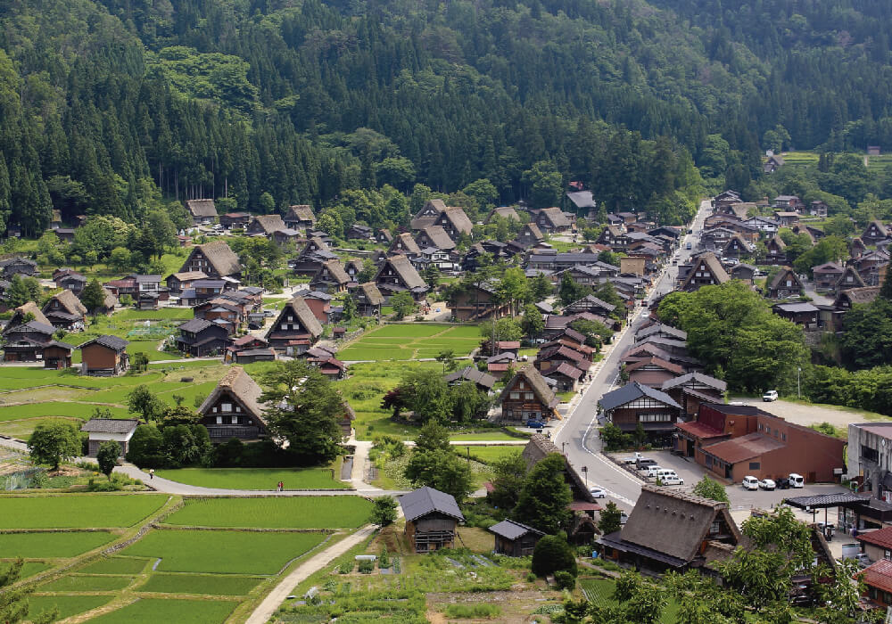 Una aldea muy histórica y hermosa.