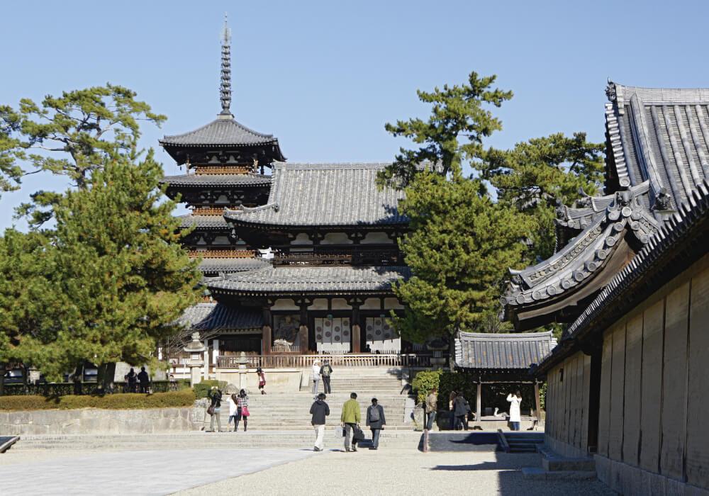 Templo budista localizado en Ikaruga, prefectura de Nara, Japón.