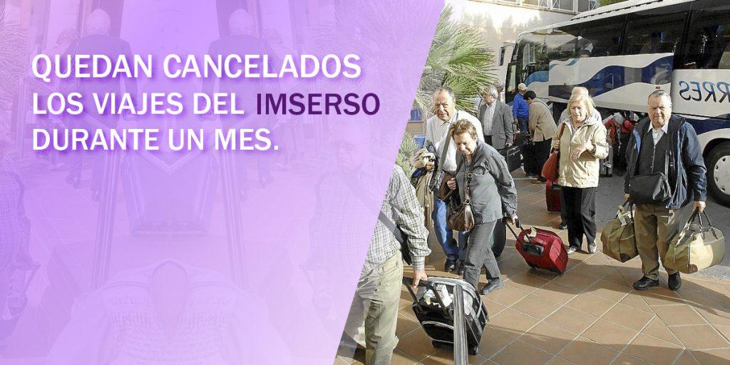 Viajes del Imserso Cancelados.