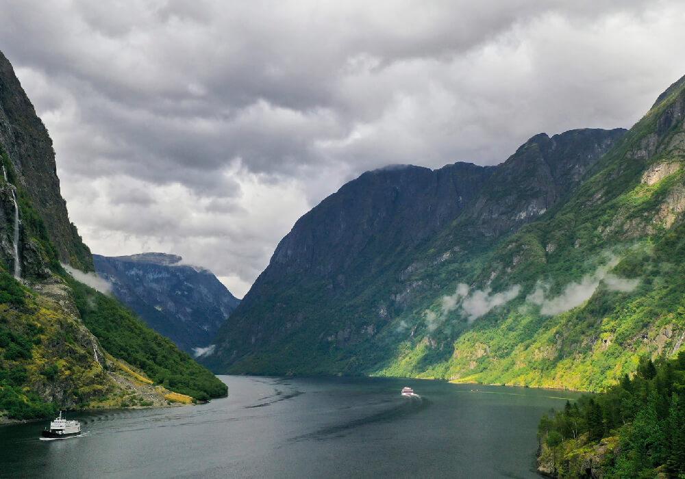 Los Fiordos de Noruega son de los paisajes más famosos.