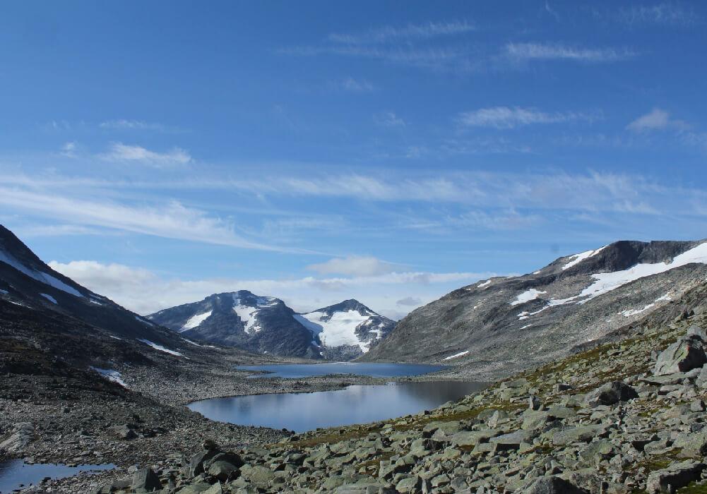 Es aquí dónde se encuentran las montañas más altas de Noruega.