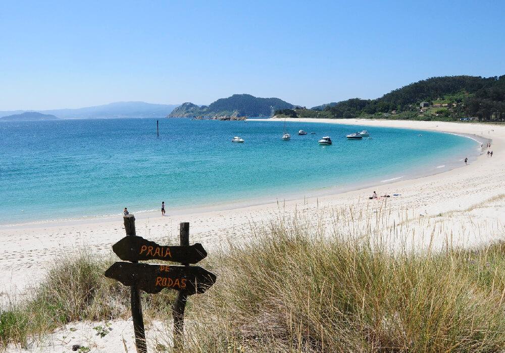 Playa de mayor extensión de las Islas Cíes.