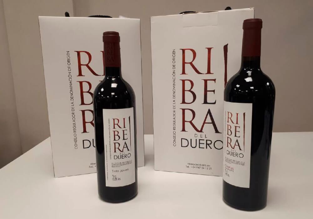 Ejemplos de las botellas de Ribera del Duero.
