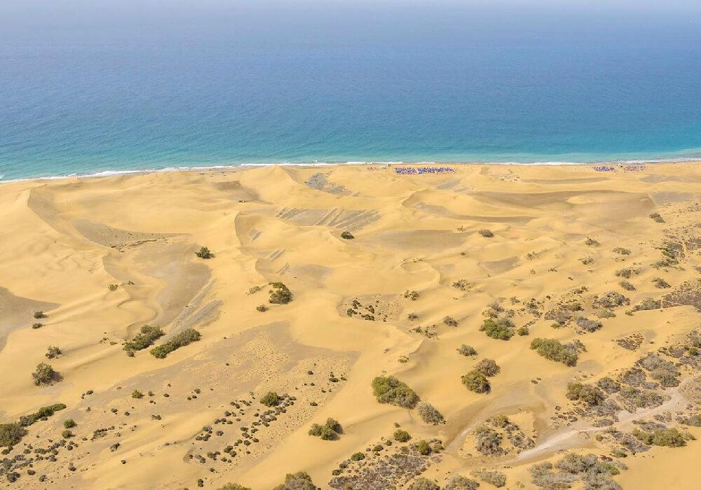 En tu viaje a Gran Canaria no te pierdas las Dunas Masapalomas.