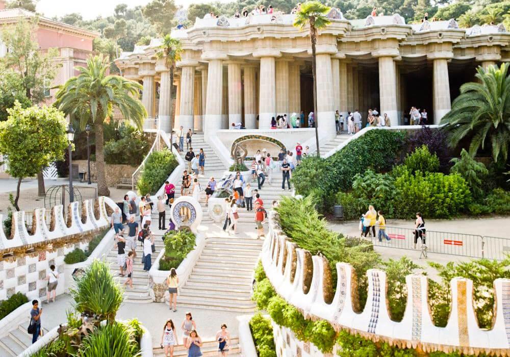 Los detalles del Parque Güell son arte y genio de Gaudí.