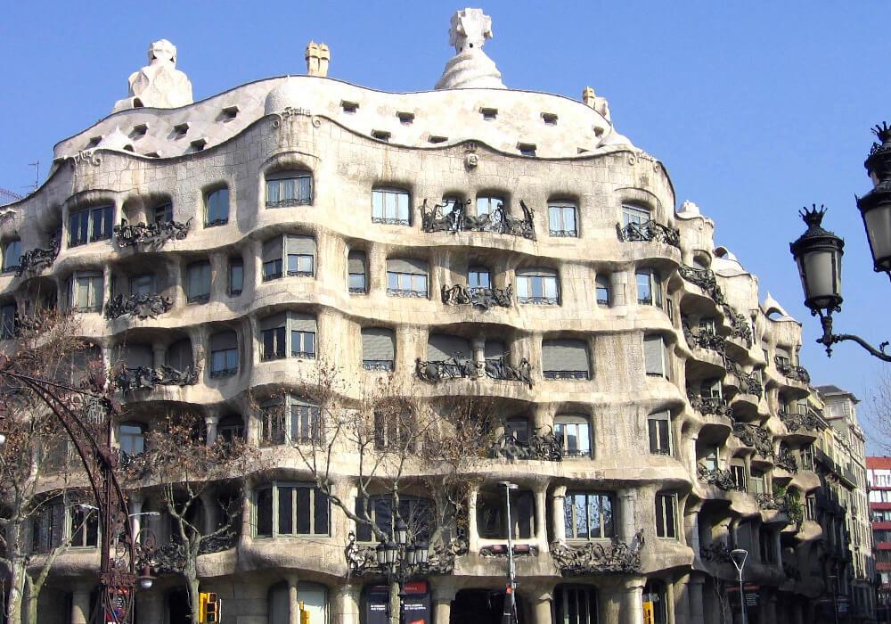 La Pedrera, una de las obras más importantes de Gaudí.