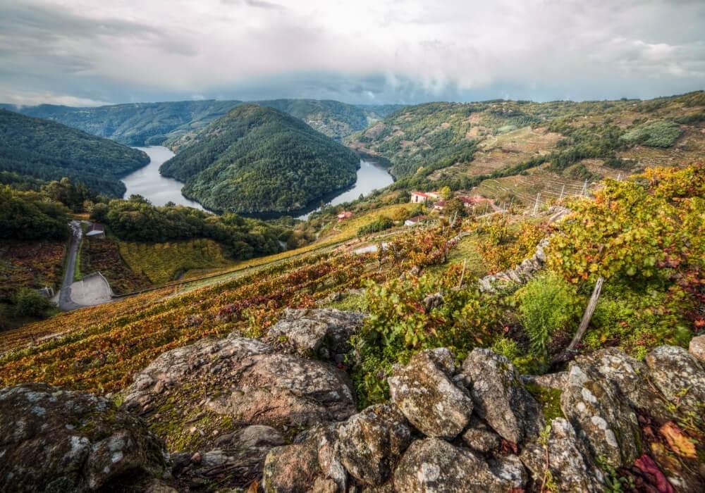 Si deseas ver un paraje de película sin duda debes de visitar el Cañón del Sil en Galicia.