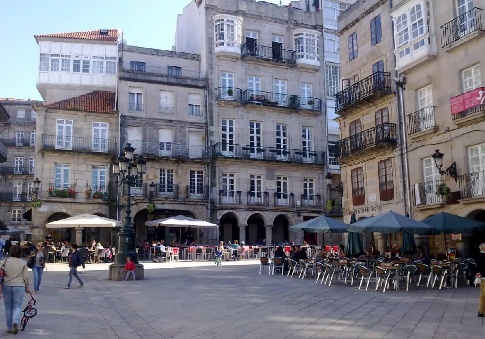 Los edificios de Vigo son hermosos y con un estilo único.