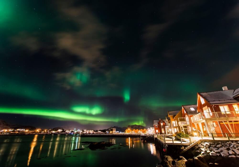 Auroras boreales en países nórdicos