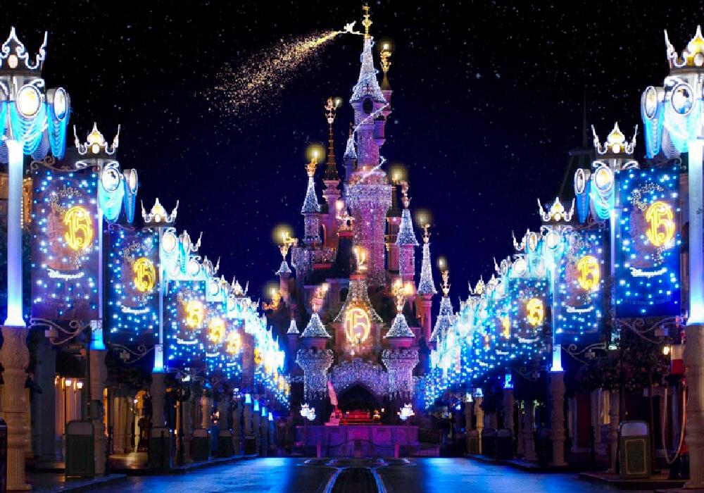 Disneyland París en celebración navideña