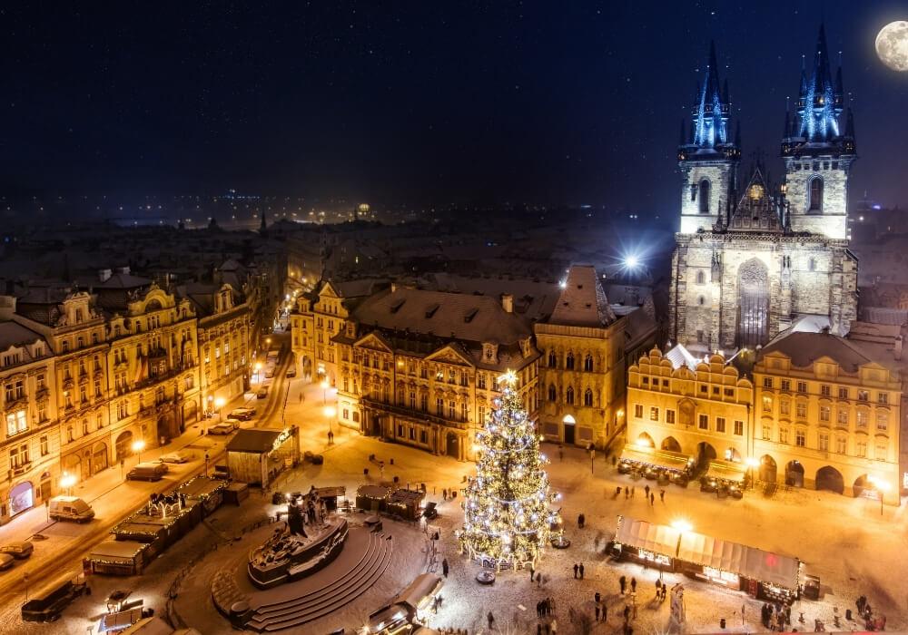 Festeja la Navidad en Praga