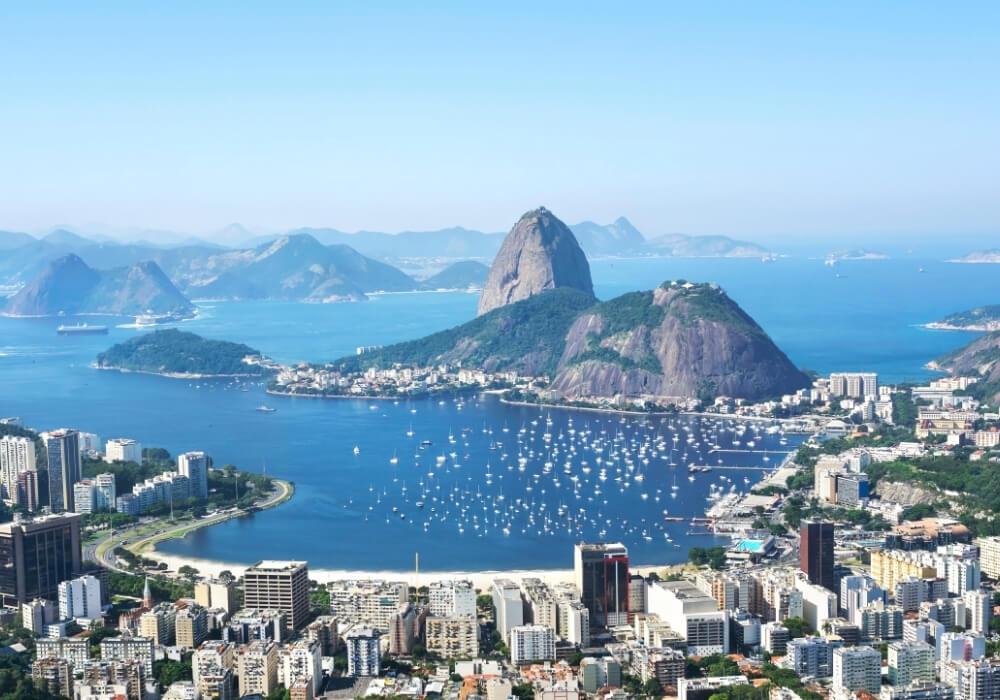panorámica de rio de janeiro en brasil