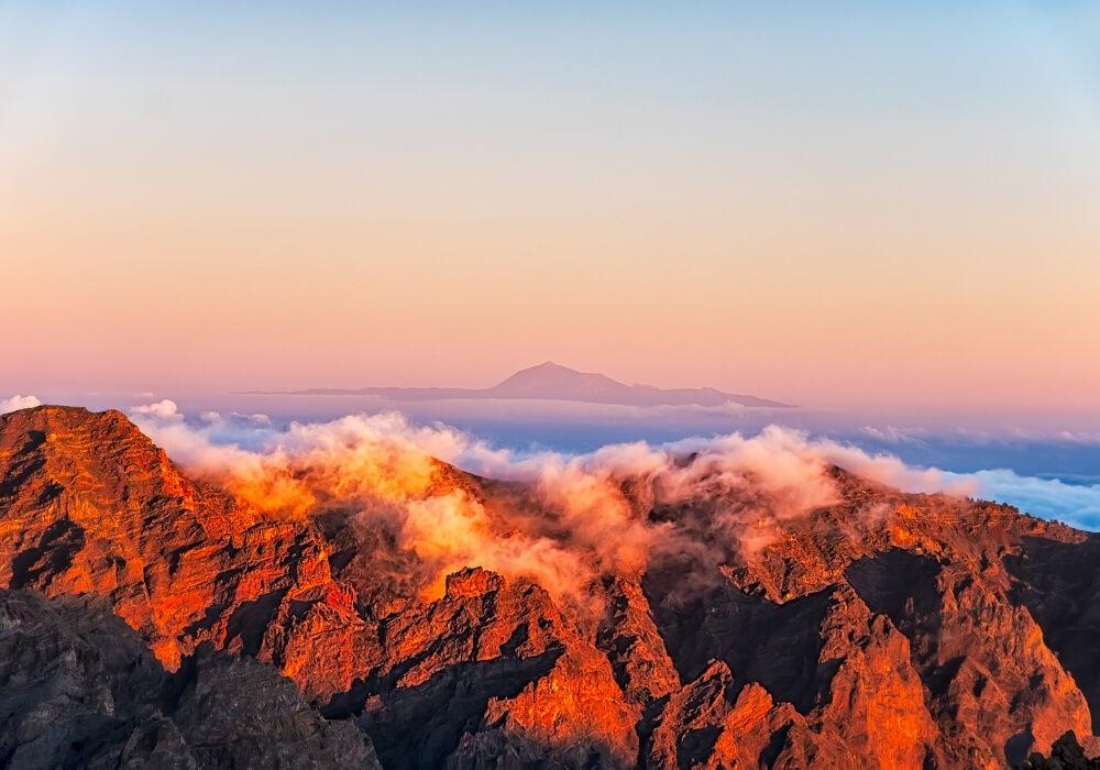 Mirador Roque de los Muchachos en La Palma, Canarias