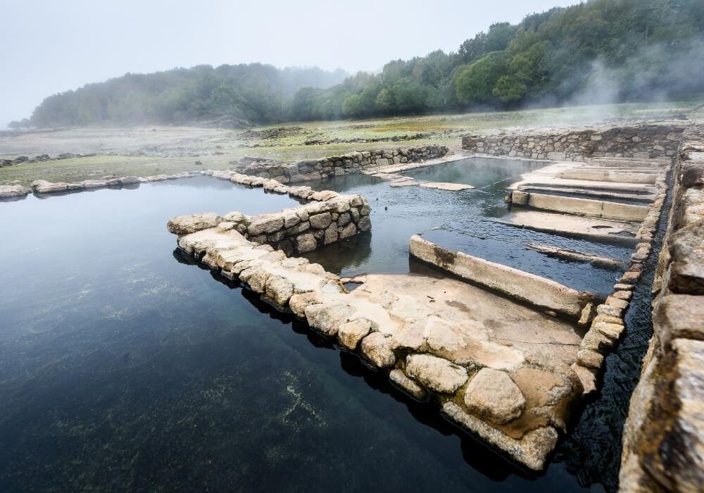 Yacimiento romano en el Balneario de Archena.