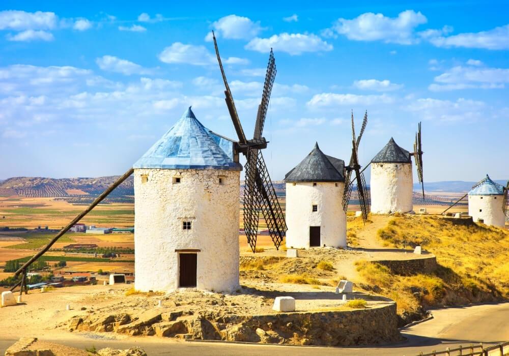 Molinos de Consuegra en La Mancha