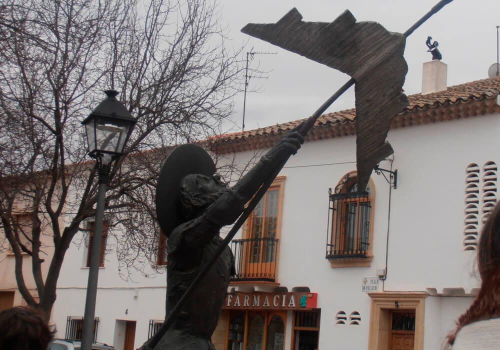 Escultura Quijote Cósmico en Alcázar de San Juan