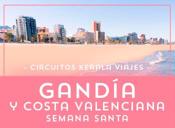 Viajes Comunidad Valenciana 2019: Gandía y Costa Valenciana Semana Santa 2019