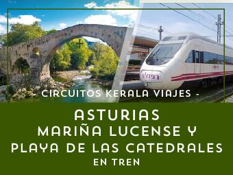 Viajes Asturias 2018-2019: Circuito Asturias y Mariña Lucense  en Tren - Verano 2018