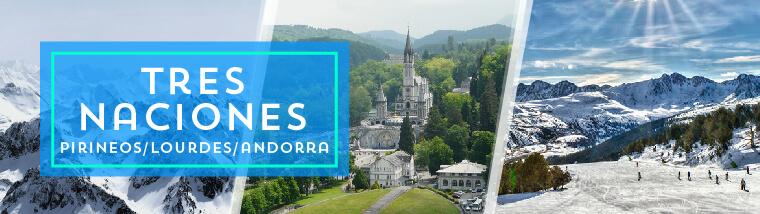 Circuito Tres Naciones: Pirineos, Lourdes y Andorra